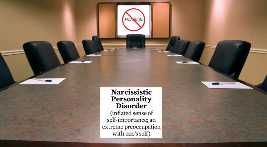 narcism-at-boardroom-table